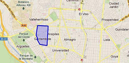 Gaztambide barrio de madrid - Zona chamberi madrid ...