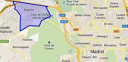 Aravaca barrio de madrid - Plano de aravaca ...