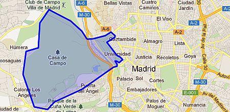 Casa de campo barrio de madrid - Mapa de la casa de campo ...