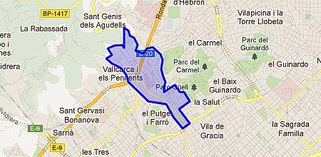 Mapa Vallcarca i els Penitents