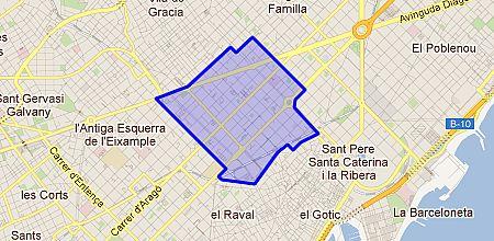 Eixample Dreta Barcelona Mapa.Dreta Eixample Barrio De Barcelona Enalquiler Com