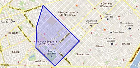 Eixample Dreta Barcelona Mapa.Nova Esquerra Eixample Barrio De Barcelona Enalquiler Com