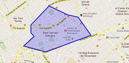 Sant gervasi galvany barrio de barcelona - Tanatori sant gervasi barcelona ...