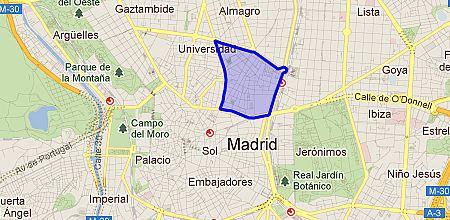 Barrio Chueca Madrid Mapa.Justicia Barrio De Madrid Enalquiler Com